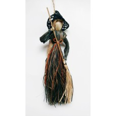 Flat Witch with Broom, 8 inch (lot of 12) SALE ITEM