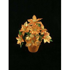 Large Poinsettia Bush, metallic copper (lot of 12)
