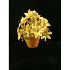 Poinsettia Bouquet, gold (lot of 12)