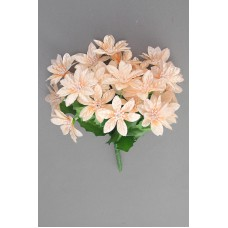 Satin Poinsettia Bouquet, peach (lot of 12)