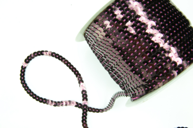 6 yards 6mm Orchid Sequins Ribbon Trim