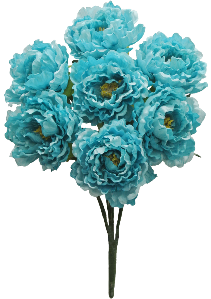 Silk Flowers By Color Turquoise