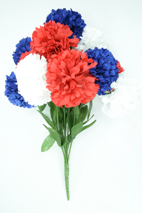 Red, White, and Blue Carnation Bush x12