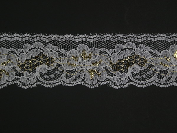 """White Cotton Embroidery Eyelet Lace Trim Wholesale Lot Lily 1.5/"""" off-White"""
