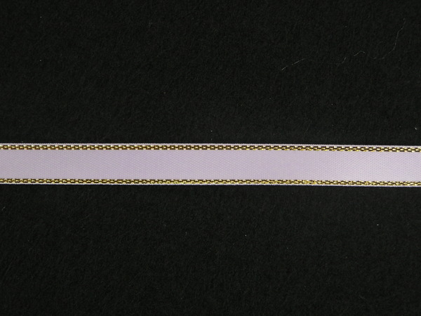 50-Yards Lavender Solid Color 3//8-Inch Silver Edge Ribbon