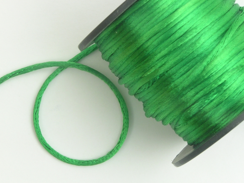 1.5mm Emerald Double Sided Satin Ribbon x 2 metres