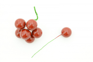 Burgundy Artificial Berry pick, 20MM (lot of 12 bunches) SALE ITEM