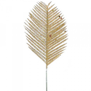Gold Glitter Cycas Leaf (lot of 12) SALE ITEM
