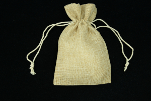 "5""X7"" Burlap Pouches (lot of 6) SALE ITEM"