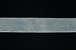 2.5 Inch White Mesh Metallic Foil Ribbon (lot of 25 yards) SALE ITEM