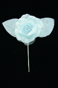 Light Blue Open Rose  (Lot of 12) SALE ITEM