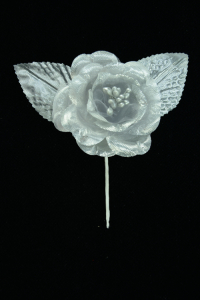 Silver Open Rose  (Lot of 12) SALE ITEM