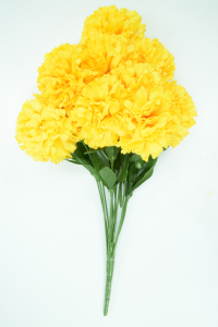 Yellow Carnation Bush x12  (Lot of 1) SALE ITEM