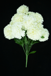 Cream Carnation Bush x12  (Lot of 1) SALE ITEM