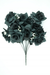 Black Micro Peach Open Rose Bush x12 (Lot of 1) SALE ITEM
