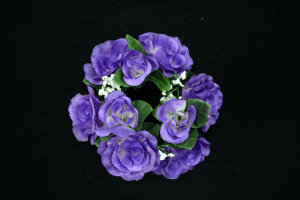 Purple Candle Ring For Pillar Candle (Lot of 1) SALE ITEM