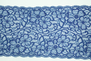 6.75 Inch Flat Double Edge Galloon Lace, Navy (25 YARDS) MADE IN USA