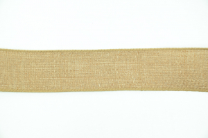 1.5 Inch Wired Linen Ribbon, Caramel Brown (100 Feet) SALE ITEM