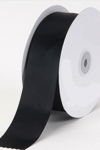 Single Faced Satin Ribbon , Black, 1/4 Inch x 25 Yards (1 Spool) SALE ITEM