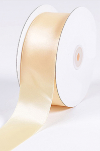 Single Faced Satin Ribbon , Ivory, 1/4 Inch x 25 Yards (1 Spool) SALE ITEM