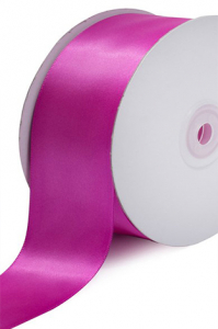 Single Faced Satin Ribbon , Fuchsia, 1/4 Inch x 25 Yards (1 Spool) SALE ITEM