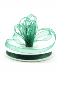 Organza Ribbon , Hunter, 1/4 Inch x 25 Yards (1 Spool) SALE ITEM