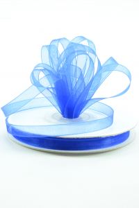 Organza Ribbon , Royal, 1/4 Inch x 25 Yards (1 Spool) SALE ITEM