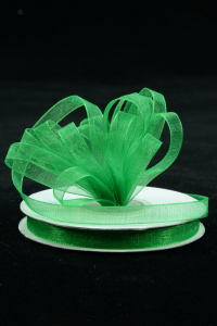 Organza Ribbon , Emerald, 3/8 Inch x 25 Yards (1 Spool) SALE ITEM