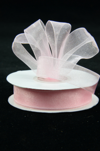 Organza Ribbon , Light Pink, 5/8 Inch x 25 Yards (1 Spool) SALE ITEM