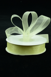 Organza Ribbon , Baby Maize, 5/8 Inch x 25 Yards (1 Spool) SALE ITEM