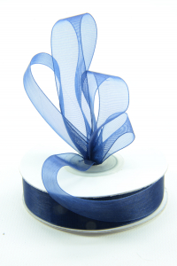 Organza Ribbon , Navy, 5/8 Inch x 25 Yards (1 Spool) SALE ITEM