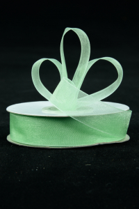 Organza Ribbon , Mint, 5/8 Inch x 25 Yards (1 Spool) SALE ITEM