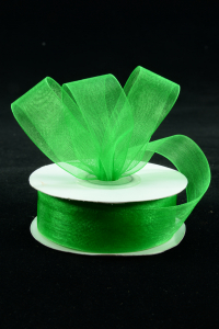 Organza Ribbon , Emerald, 7/8 Inch x 25 Yards (1 Spool) SALE ITEM