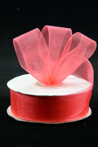 Organza Ribbon , Coral, 7/8 Inch x 25 Yards (1 Spool) SALE ITEM