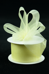 Organza Ribbon , Baby Maize, 1.5 Inch x 25 Yards (1 Spool) SALE ITEM