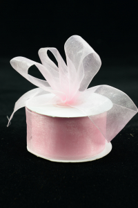 Organza Ribbon , Light Pink, 1.5 Inch x 25 Yards (1 Spool) SALE ITEM