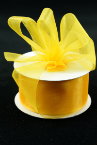 Organza Ribbon , Light Gold, 1.5 Inch x 25 Yards (1 Spool) SALE ITEM