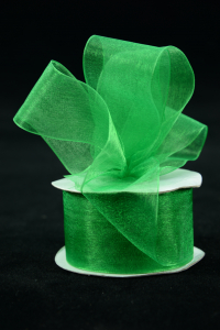 Organza Ribbon , Emerald, 1.5 Inch x 25 Yards (1 Spool) SALE ITEM