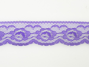 1.25 inch Flat Lace, Lt. Purple (50 yards)