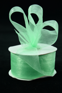 Organza Ribbon , Mint, 1.5 Inch x 25 Yards (1 Spool) SALE ITEM