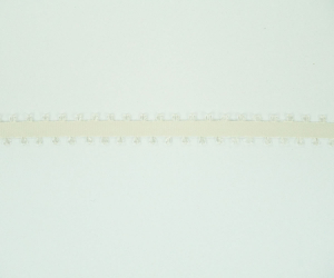 Double Faced Satin Picot Ribbon , Ivory, 3/16 Inch x 50 Yards (1 Spool) SALE ITEM