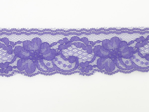 2 inch Flat Lace, Purple (50 yards)