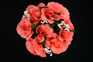 Coral Candle Ring for Pillar Candle (Lot of 1) SALE ITEM