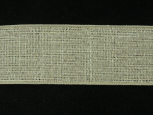 2.5 Inch Wired Linen Ribbon, Sandy Brown (10 yards) SALE ITEM