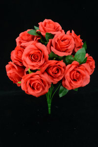 Red Open Rose Bush x11  (Lot of 12) SALE ITEM