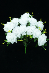 White Open Rose Bush x12  (Lot of 8) SALE ITEM