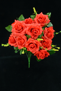 Red Open Rose Bush x12  (Lot of 12) SALE ITEM