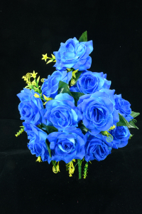 Royal Blue Open Rose Bush x12  (Lot of 8) SALE ITEM