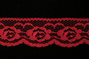 1.25 Inch Flat Lace, Scarlet Red (541 YARDS - FULL SPOOL) MADE IN USA