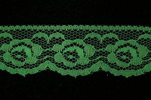 1.25 Inch Flat Lace, Emerald (775 YARDS - FULL SPOOL)
